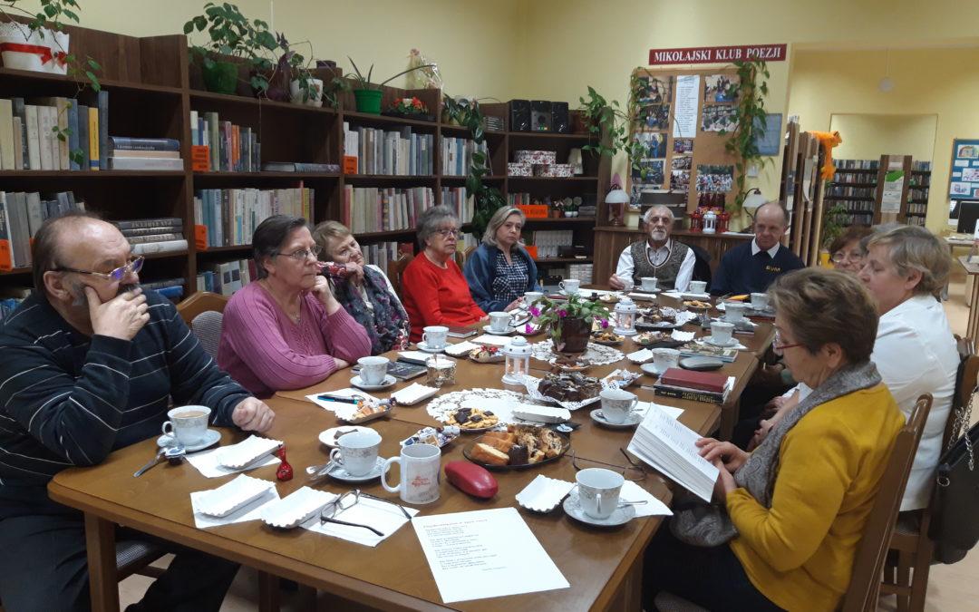 Spotkanie Mikołajskiego Klubu Poezji