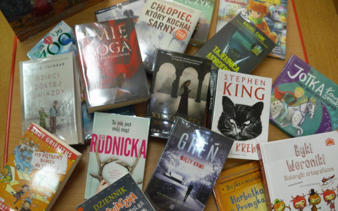 Nowości książkowe w bibliotece :)